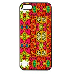 Abstract Background Pattern Doodle Apple Iphone 5 Seamless Case (black)