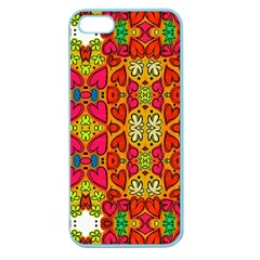 Abstract Background Pattern Doodle Apple Seamless Iphone 5 Case (color)