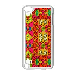 Abstract Background Pattern Doodle Apple Ipod Touch 5 Case (white)