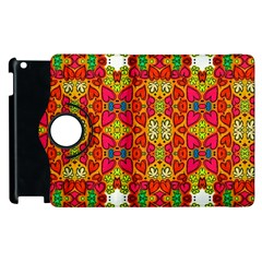 Abstract Background Pattern Doodle Apple Ipad 2 Flip 360 Case