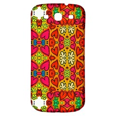 Abstract Background Pattern Doodle Samsung Galaxy S3 S Iii Classic Hardshell Back Case