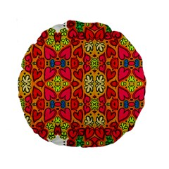 Abstract Background Pattern Doodle Standard 15  Premium Round Cushions