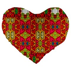 Abstract Background Pattern Doodle Large 19  Premium Heart Shape Cushions