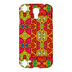 Abstract Background Pattern Doodle Samsung Galaxy S4 I9500/i9505 Hardshell Case