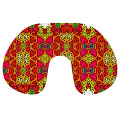 Abstract Background Pattern Doodle Travel Neck Pillows