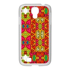 Abstract Background Pattern Doodle Samsung Galaxy S4 I9500/ I9505 Case (white)
