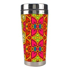 Abstract Background Pattern Doodle Stainless Steel Travel Tumblers