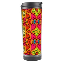 Abstract Background Pattern Doodle Travel Tumbler