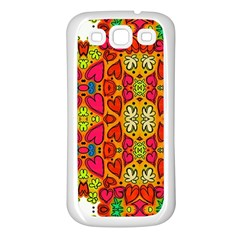 Abstract Background Pattern Doodle Samsung Galaxy S3 Back Case (white)