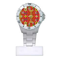 Abstract Background Pattern Doodle Plastic Nurses Watch