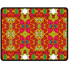 Abstract Background Pattern Doodle Double Sided Fleece Blanket (medium)