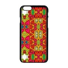 Abstract Background Pattern Doodle Apple Iphone 6/6s Black Enamel Case