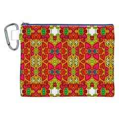 Abstract Background Pattern Doodle Canvas Cosmetic Bag (xxl)