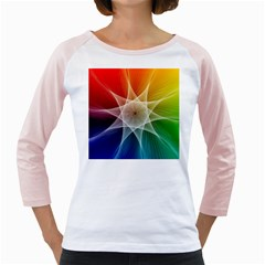 Abstract Star Pattern Structure Girly Raglans