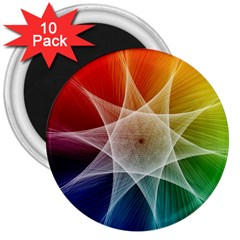 Abstract Star Pattern Structure 3  Magnets (10 Pack)