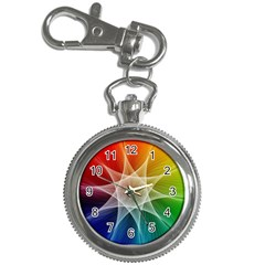 Abstract Star Pattern Structure Key Chain Watches