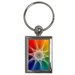 Abstract Star Pattern Structure Key Chains (rectangle)