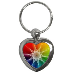 Abstract Star Pattern Structure Key Chains (heart)