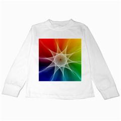 Abstract Star Pattern Structure Kids Long Sleeve T Shirts