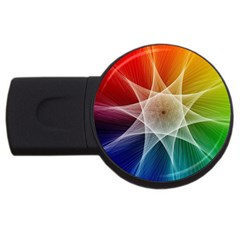 Abstract Star Pattern Structure Usb Flash Drive Round (4 Gb)