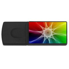 Abstract Star Pattern Structure Rectangular Usb Flash Drive