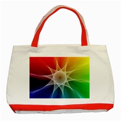 Abstract Star Pattern Structure Classic Tote Bag (red)