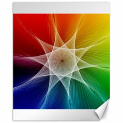 Abstract Star Pattern Structure Canvas 16  X 20