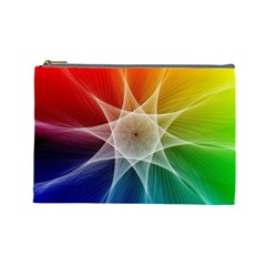 Abstract Star Pattern Structure Cosmetic Bag (large)