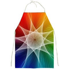 Abstract Star Pattern Structure Full Print Aprons