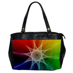 Abstract Star Pattern Structure Office Handbags