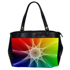 Abstract Star Pattern Structure Office Handbags (2 Sides)