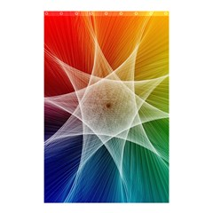 Abstract Star Pattern Structure Shower Curtain 48  X 72  (small)