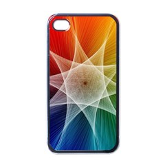 Abstract Star Pattern Structure Apple Iphone 4 Case (black)