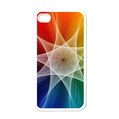Abstract Star Pattern Structure Apple Iphone 4 Case (white)