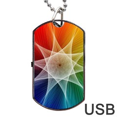 Abstract Star Pattern Structure Dog Tag Usb Flash (one Side)