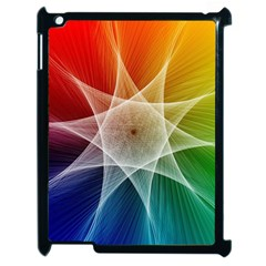 Abstract Star Pattern Structure Apple Ipad 2 Case (black)