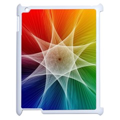 Abstract Star Pattern Structure Apple Ipad 2 Case (white)