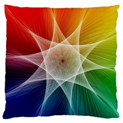 Abstract Star Pattern Structure Large Cushion Case (one Side)