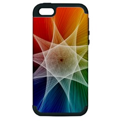 Abstract Star Pattern Structure Apple Iphone 5 Hardshell Case (pc+silicone)