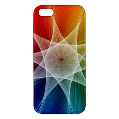 Abstract Star Pattern Structure Apple Iphone 5 Premium Hardshell Case