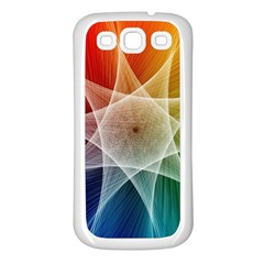 Abstract Star Pattern Structure Samsung Galaxy S3 Back Case (white)