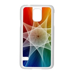Abstract Star Pattern Structure Samsung Galaxy S5 Case (white)