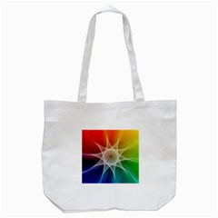 Abstract Star Pattern Structure Tote Bag (white)