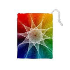 Abstract Star Pattern Structure Drawstring Pouches (medium)