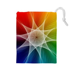 Abstract Star Pattern Structure Drawstring Pouches (large)