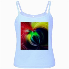 Circle Lines Wave Star Abstract Baby Blue Spaghetti Tank