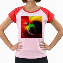 Circle Lines Wave Star Abstract Women s Cap Sleeve T Shirt