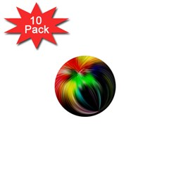 Circle Lines Wave Star Abstract 1  Mini Magnet (10 Pack)