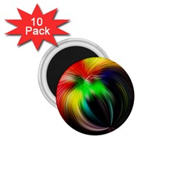 Circle Lines Wave Star Abstract 1 75  Magnets (10 Pack)