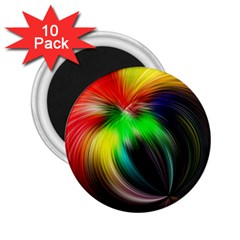 Circle Lines Wave Star Abstract 2 25  Magnets (10 Pack)